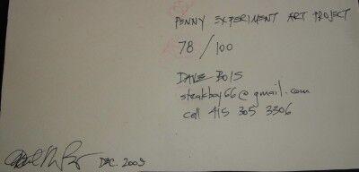 78 RPM penny art back