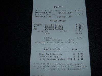 fruit roll-ups receipt