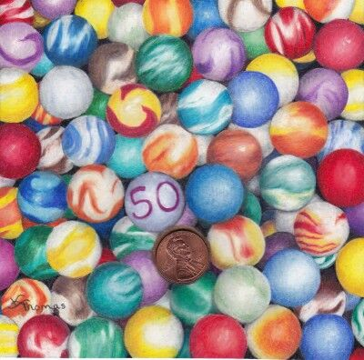 penny art marbles