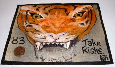 year of the tiger penny art