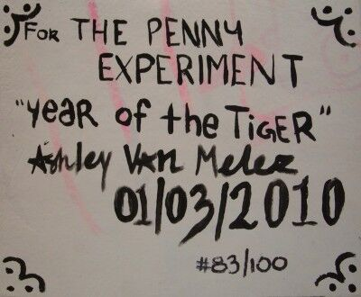 year of the tiger penny art back