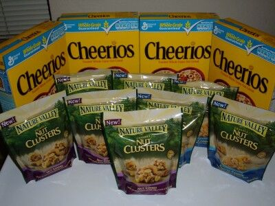 cheerios and nut clusters