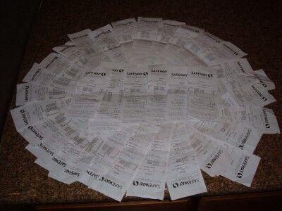 34 cash register receipts