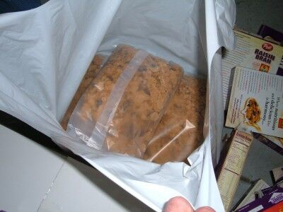 Raisin Bran in plastic bags