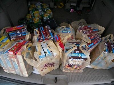 cereal food bank donation