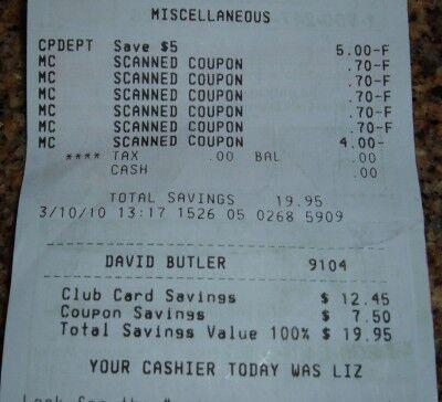 free food receipt