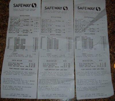 frozen food month receipts