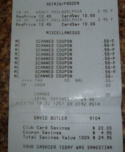 free Philadelphia cream cheese receipt
