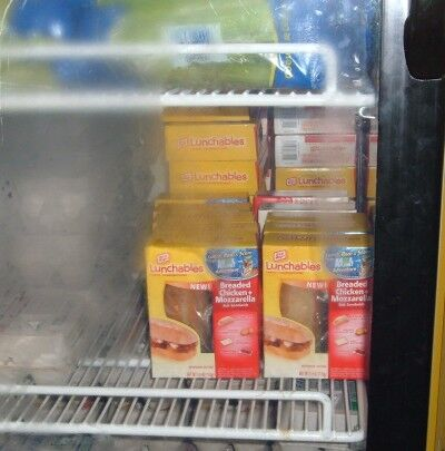 lunchables in fridge