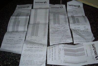 Safeway receipts