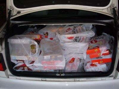 trunk full of cereal