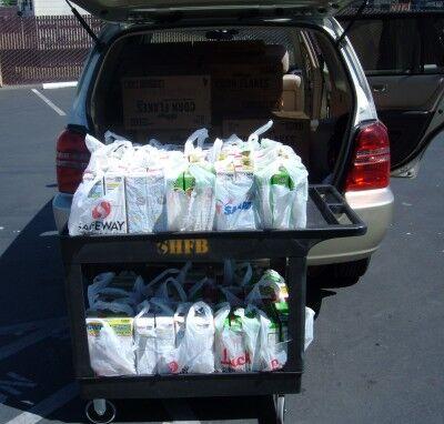unloading at food bank