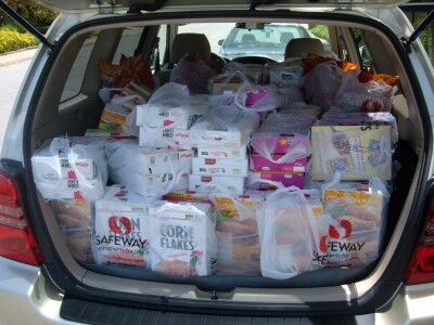 food bank delivery car