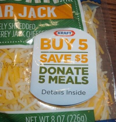 kraft cheese promo donate meals
