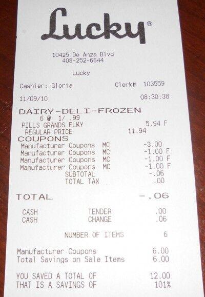 lucky receipt