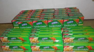 61 boxes of ronzoni pasta